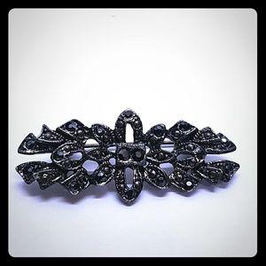 Vintage Antique rhinestone ornate lapel pin brooch